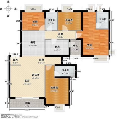 金色华庭(新中银二期)2室0厅3卫1厨189.00㎡户型图