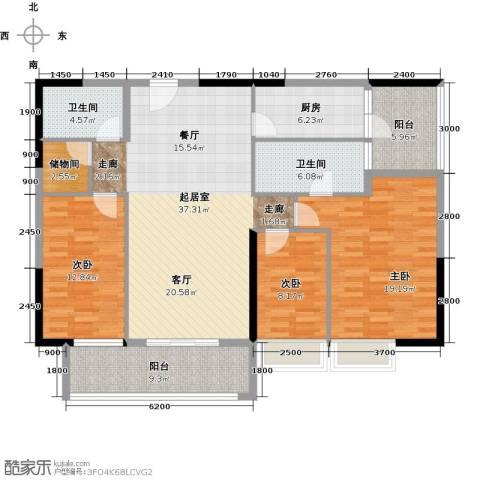 力迅T3室0厅2卫1厨126.00㎡户型图