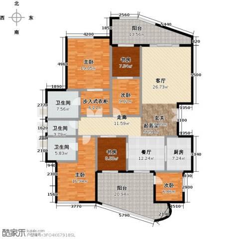 雅居乐剑桥郡6室0厅3卫1厨209.00㎡户型图