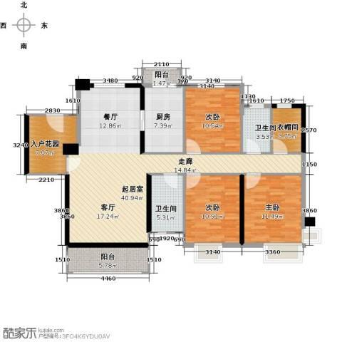石竹山水园4期3室0厅2卫1厨152.00㎡户型图
