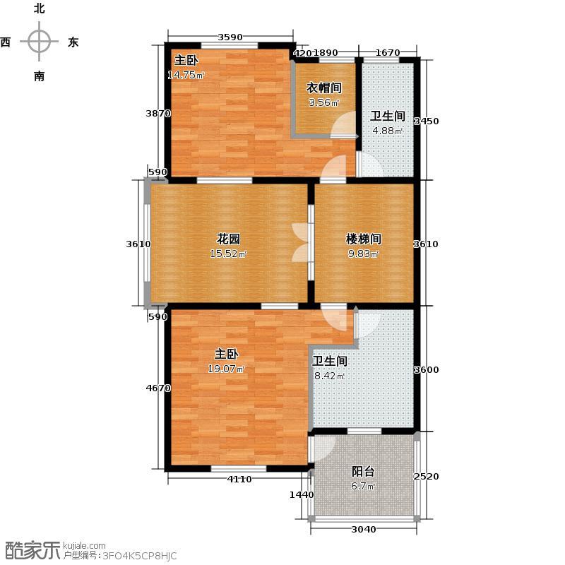 柳溪美庐92.00㎡hx-lxml-lianpai-f3-max户型2室2卫