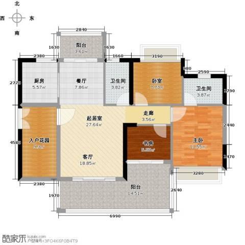 可逸家园2室0厅2卫1厨107.00㎡户型图