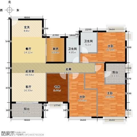 雅居乐剑桥郡4室0厅2卫1厨170.00㎡户型图