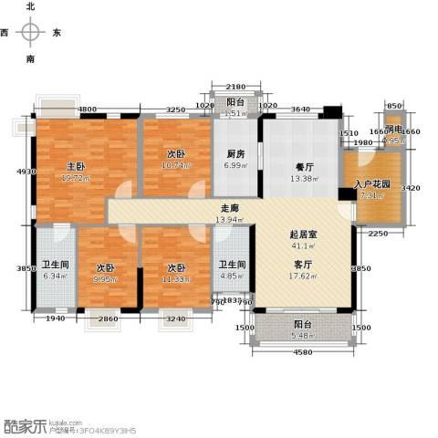 石竹山水园4期4室0厅2卫1厨178.00㎡户型图
