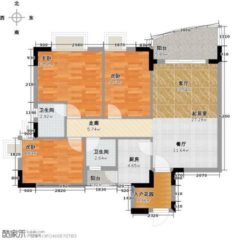 三正世纪豪庭3室0厅2卫1厨112.00㎡户型图