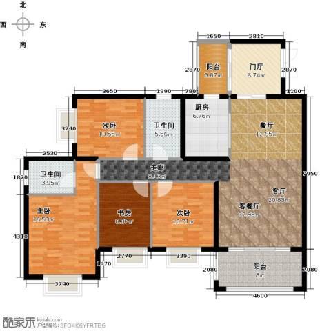 罗马景苑4室1厅2卫1厨169.00㎡户型图
