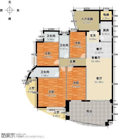 海琴湾4室1厅3卫1厨183.65㎡户型图