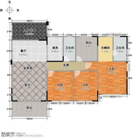 广州星河・山海湾3室0厅2卫1厨192.00㎡户型图