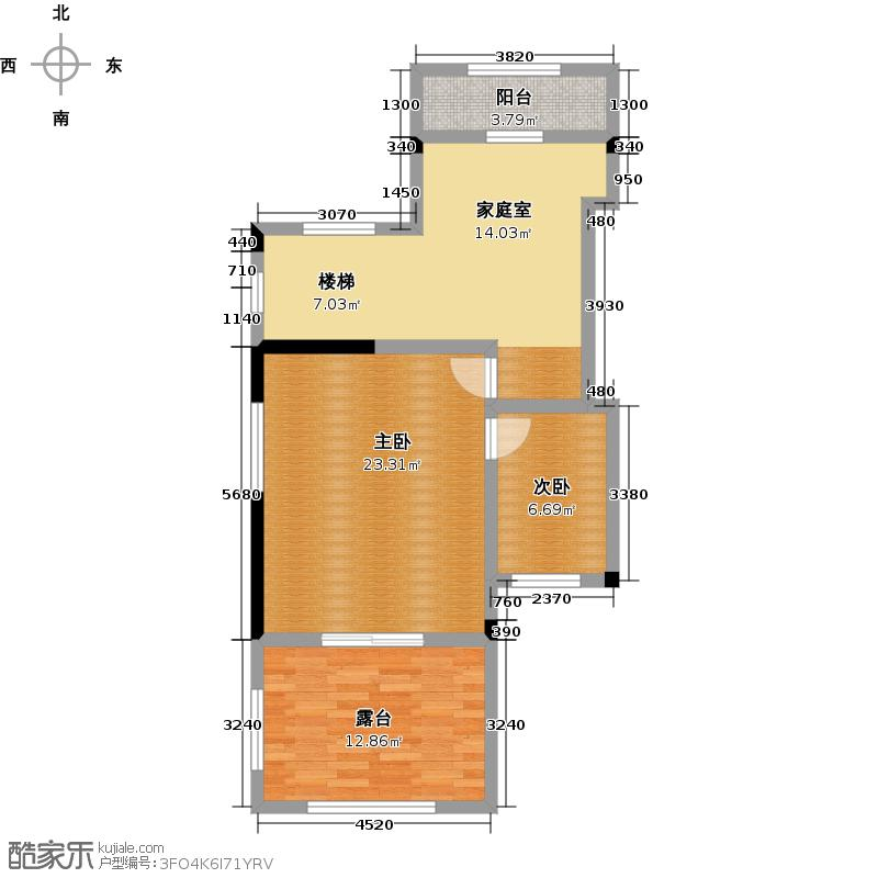 天保美墅林395.00㎡B三层户型2室