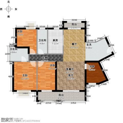 罗马景苑4室1厅2卫1厨153.00㎡户型图
