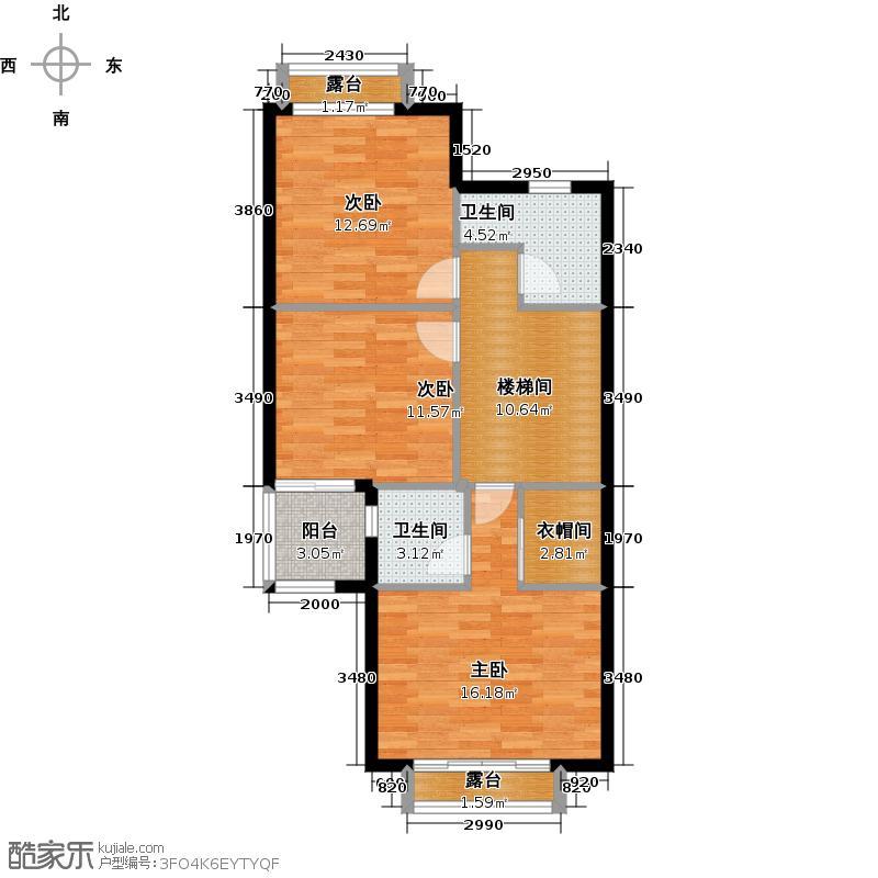 富力金港城236.00㎡标准单位02二层户型3室2卫