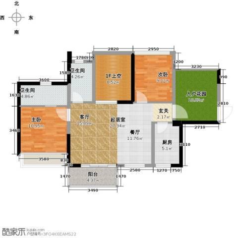 葡萄庄园2室0厅2卫1厨97.00㎡户型图