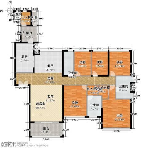 长隆珑翠5室0厅4卫1厨282.00㎡户型图