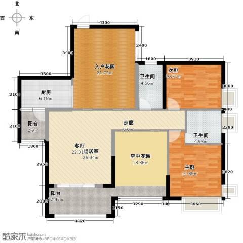 泊岸君庭2室0厅2卫1厨121.00㎡户型图