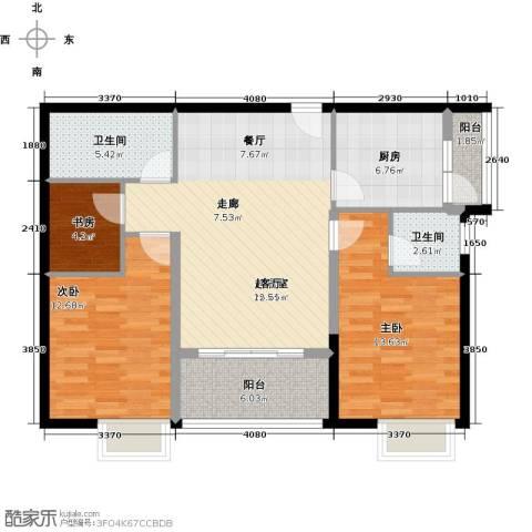 穗和城3室0厅2卫1厨90.00㎡户型图