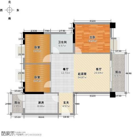 翔韵雅荟1室0厅1卫1厨128.00㎡户型图