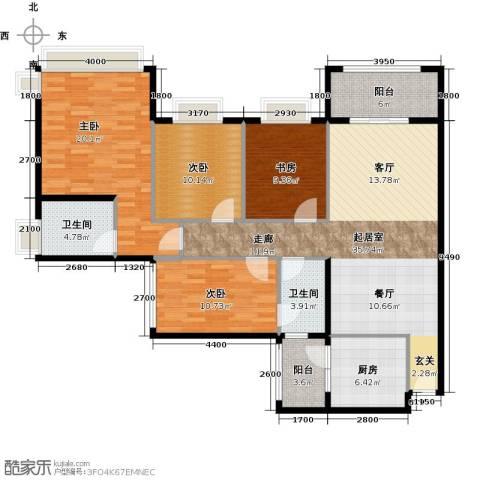 雅居乐剑桥郡4室0厅2卫1厨139.00㎡户型图