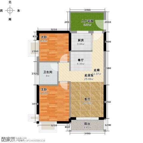 嘉利豪庭2室0厅1卫1厨93.00㎡户型图