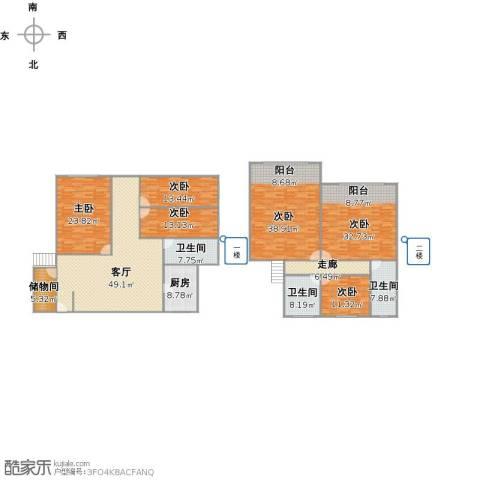 海上国际花园6室1厅3卫1厨301.00㎡户型图