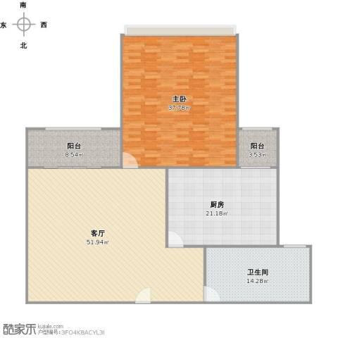 大华锦绣华城第19街区1室1厅1卫1厨180.00㎡户型图