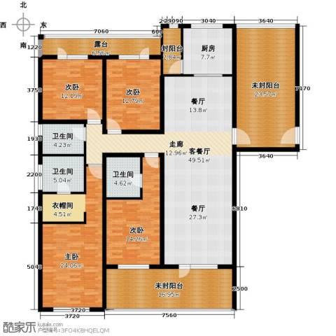 富力丹麦小镇4室1厅3卫1厨207.61㎡户型图