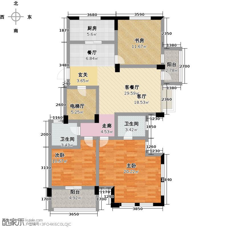 华元爱丁郡114.00㎡A―5户型3室1厅2卫1厨