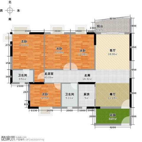 俊怡御景花园4室0厅2卫1厨167.00㎡户型图