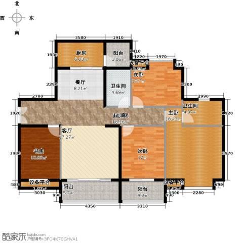 富盈东方华府三期紫峰4室0厅2卫1厨172.00㎡户型图