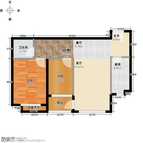 万科金域华庭2室0厅1卫1厨79.00㎡户型图