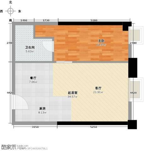 保利中汇广场1室0厅1卫0厨76.00㎡户型图