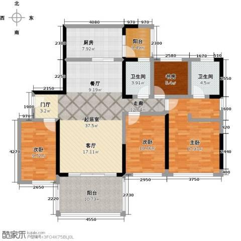 敏捷・金月湾4室0厅2卫1厨142.00㎡户型图
