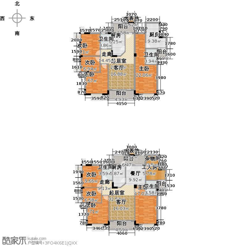 三正世纪豪庭258.71㎡户型8室4卫3厨