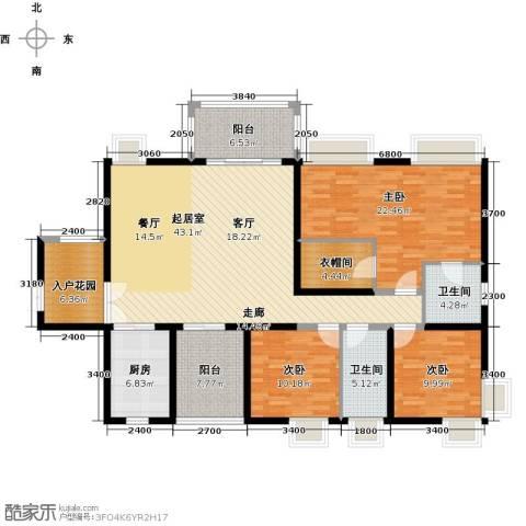 鼎峰尚境3室0厅2卫1厨157.00㎡户型图