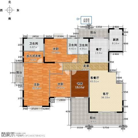 富豪山庄4室1厅3卫1厨235.00㎡户型图