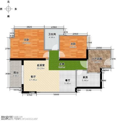 金色家园2室0厅1卫1厨85.00㎡户型图