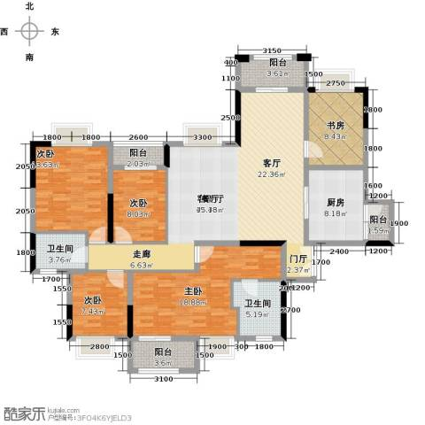 虎门国际公馆5室1厅2卫1厨182.00㎡户型图