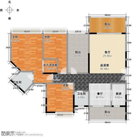 汇景御泉香山3室0厅2卫1厨189.00㎡户型图