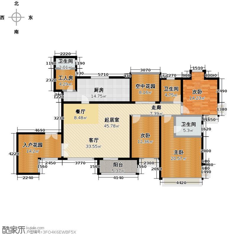 嘉汇城170.00㎡12栋5、7层01户型3室3卫1厨