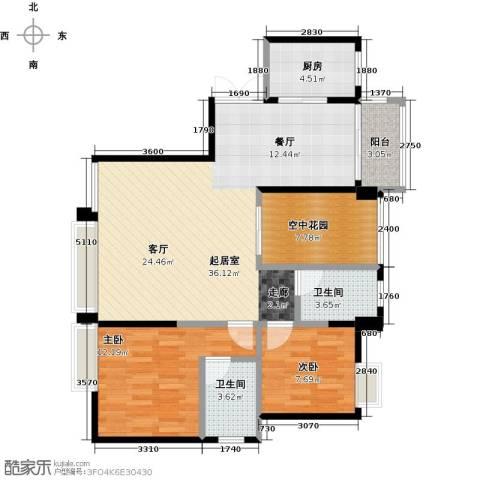 盈拓郦苑2室0厅2卫1厨110.00㎡户型图