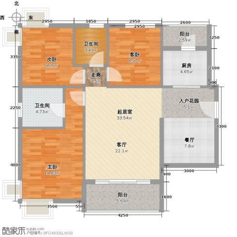 花都颐和山庄3室0厅2卫1厨98.00㎡户型图