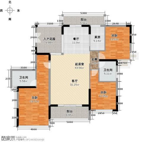 花都颐和山庄3室0厅2卫1厨149.00㎡户型图