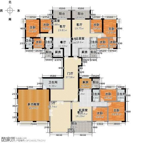 中澳丽珠花园9室0厅6卫3厨498.00㎡户型图
