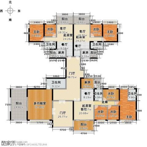 中澳丽珠花园8室0厅5卫3厨506.00㎡户型图