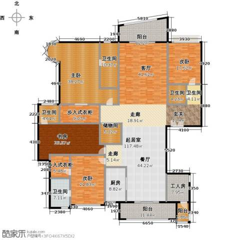 雅居乐剑桥郡4室0厅4卫1厨345.00㎡户型图