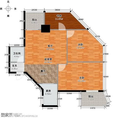 中华・钱塘航空大厦2室2厅2卫0厨140.00㎡户型图