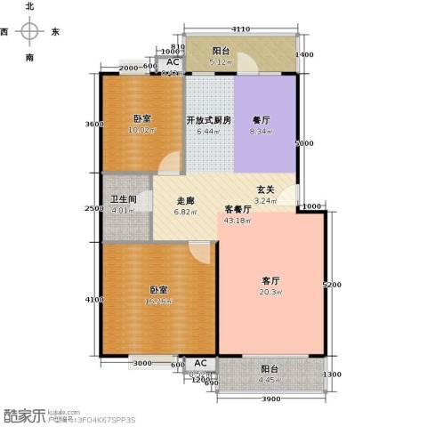 富康花园1厅1卫0厨89.84㎡户型图