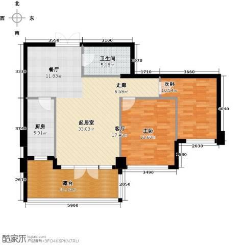 商博东城印象89.00㎡户型图
