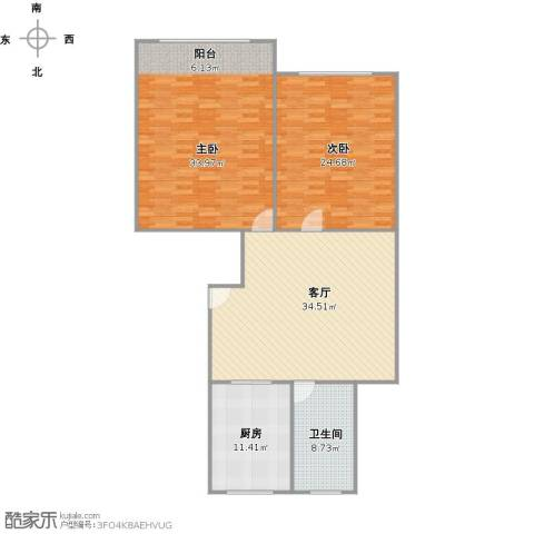 新川小区2室1厅1卫1厨149.00㎡户型图
