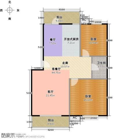 富康花园1厅1卫0厨91.58㎡户型图