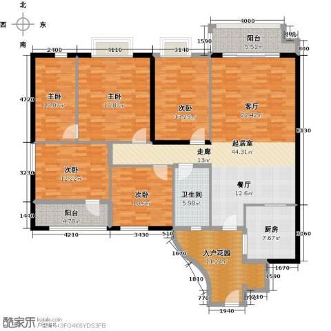 石竹山水园4期5室0厅1卫1厨201.00㎡户型图